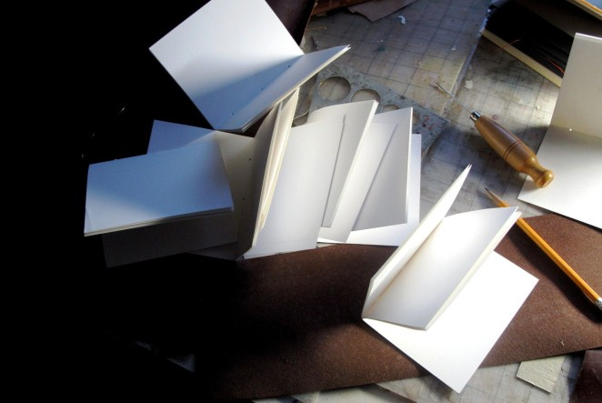 folded 8 inche x 5 inch paper,