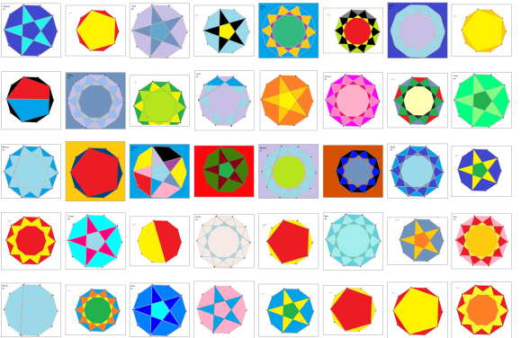Multiplication Stars made by Simon Gregg's students