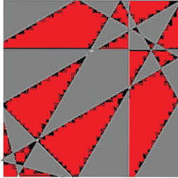 Iva,Red and Gray tile #21