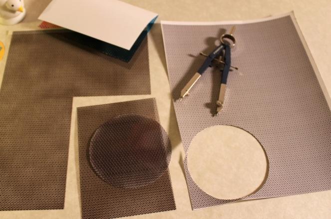 Circle Rectangle Card Compass