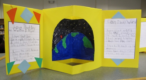 Second grade project opened up
