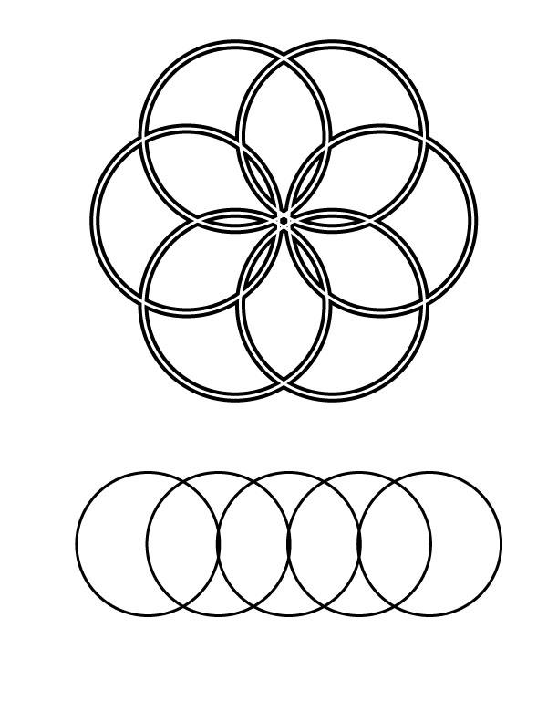 Circles Coloring Page
