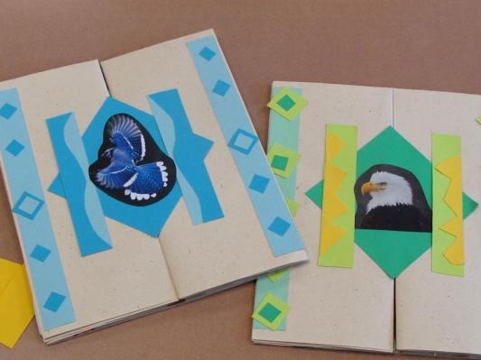 Adirondack Bird Books by second graders
