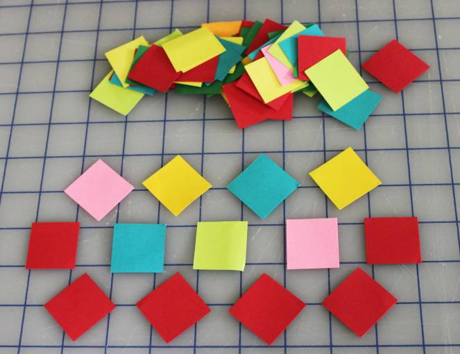 Lots of cut squares