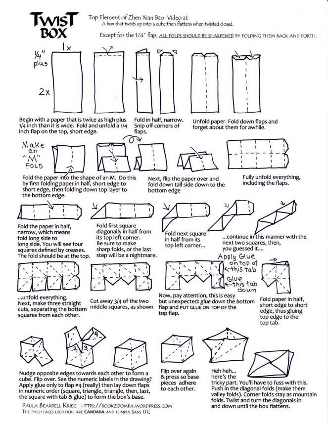 Twist Box for Zhen Xian Bao Black and White tutorial