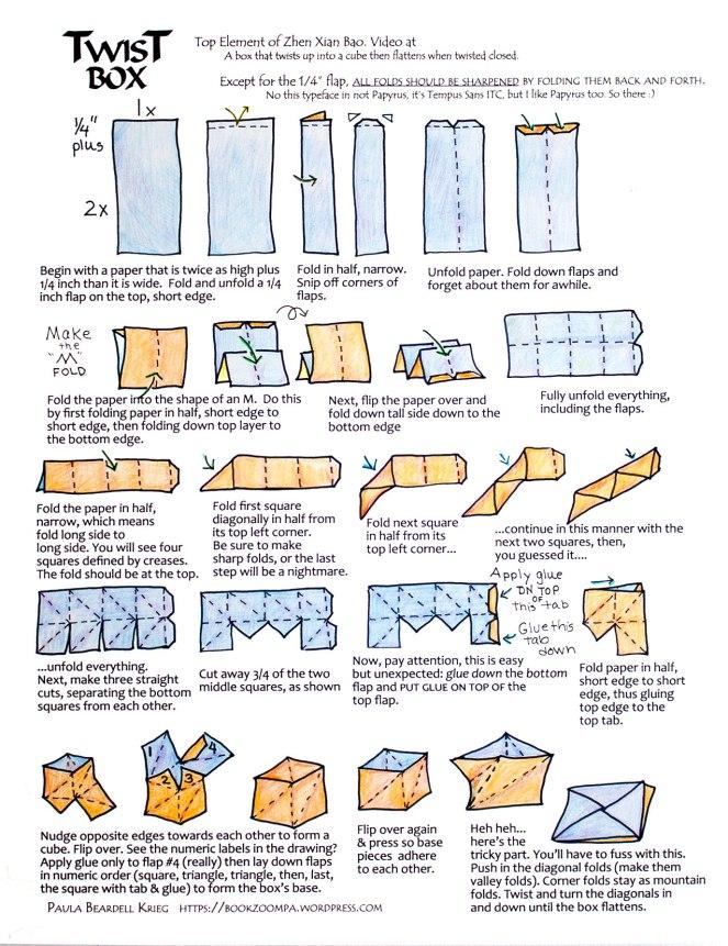 Twist Box tutorial Zhen Xian Bao