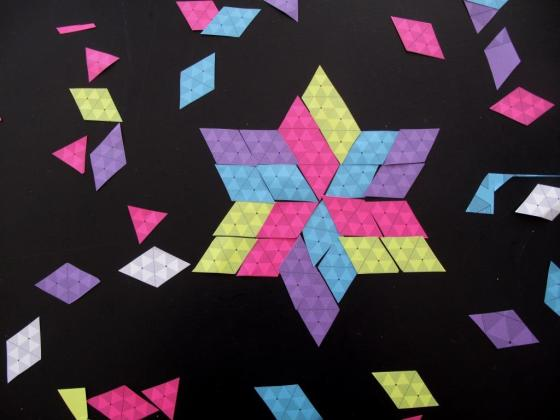 Star made from triangles and rhombuses
