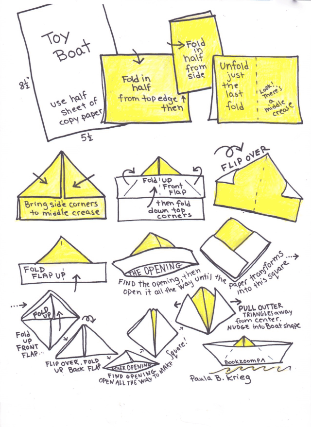 How to Make a Paper Boat: 10 Steps (with Pictures) - wikiHow | 879x640