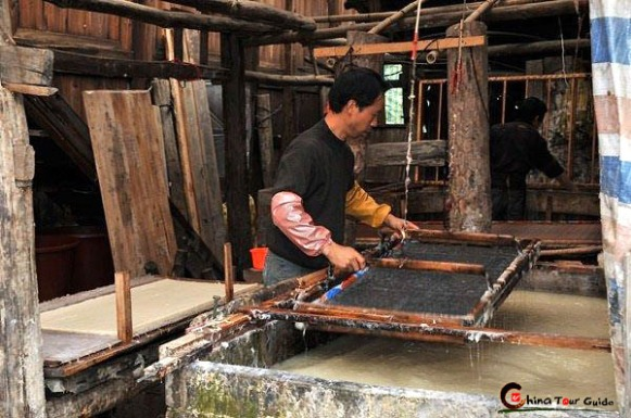 Paper Making Workshop in Shiqiao Village