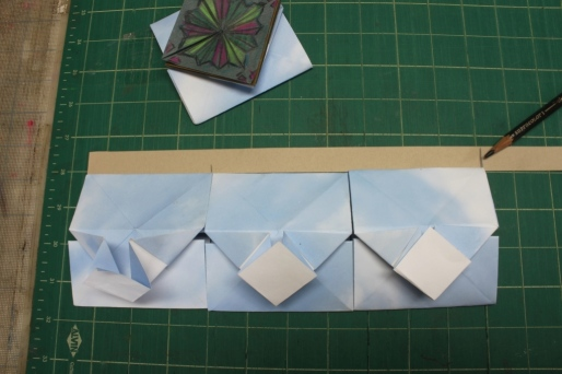 Marking a paper strip, 2 masu boxes wide