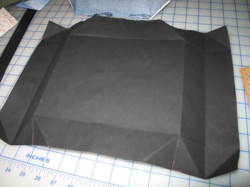 Big box, in progress, unfolded