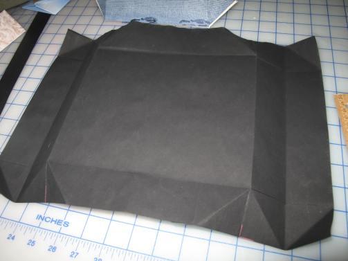 Big box, in progress, unfolded