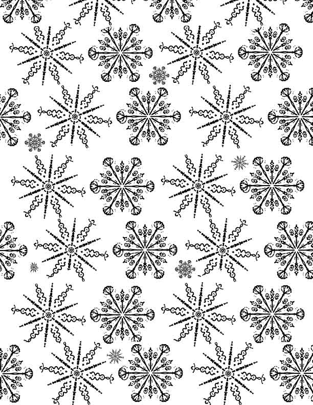 made by me with Dan Anderson OP snowflakes