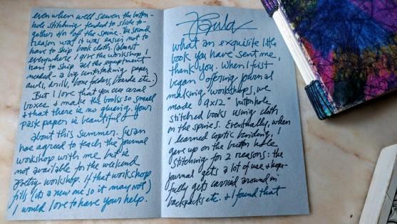 a letter from Paulus Berensohn