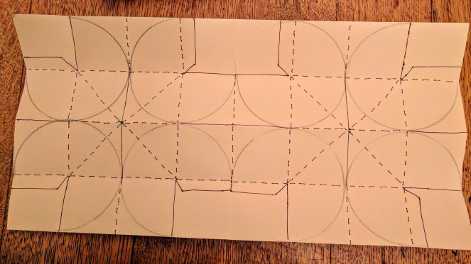 Template for folding and cutting