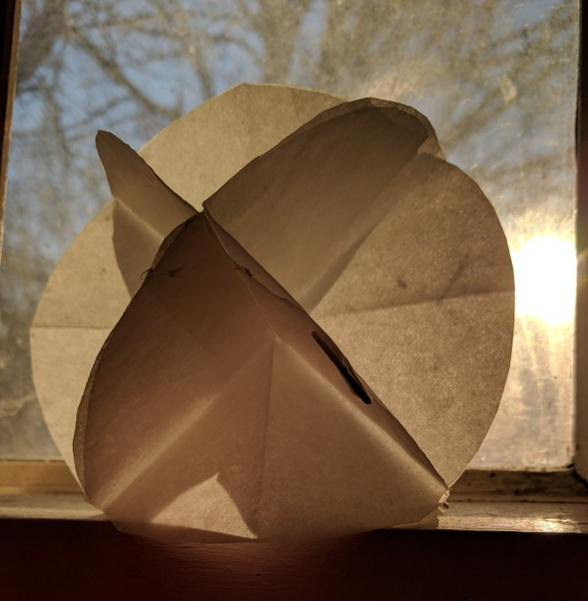 Paper folding in the morning