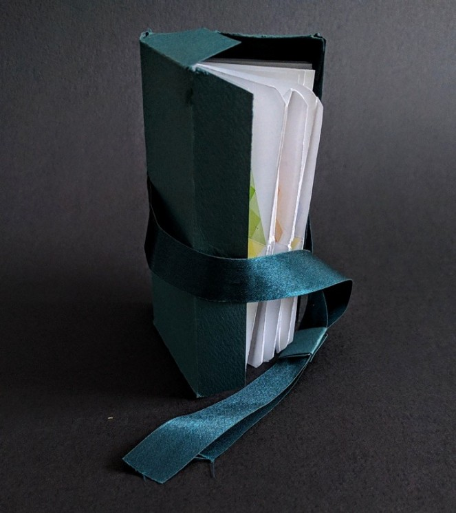 Book, peeking out of its box by Paula Beardell Krieg