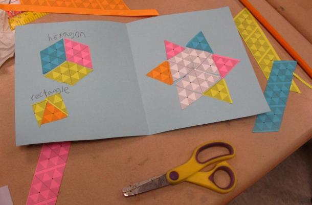 Hexagon, rectangles and star