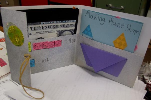 Pieces in pockets of Wallet-Book
