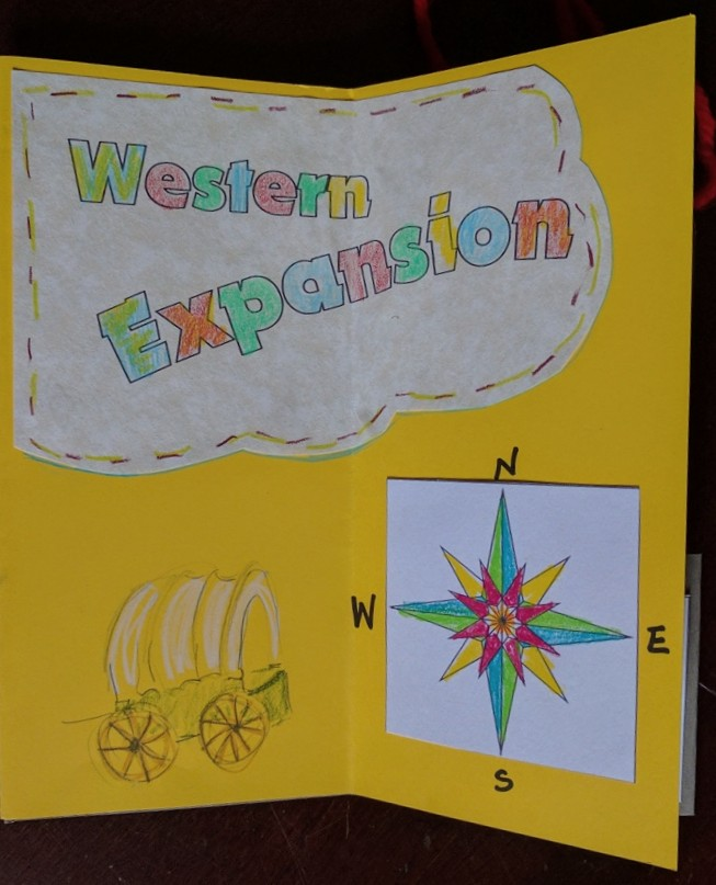 Western Expansion, Bookmaking project for Second Graders