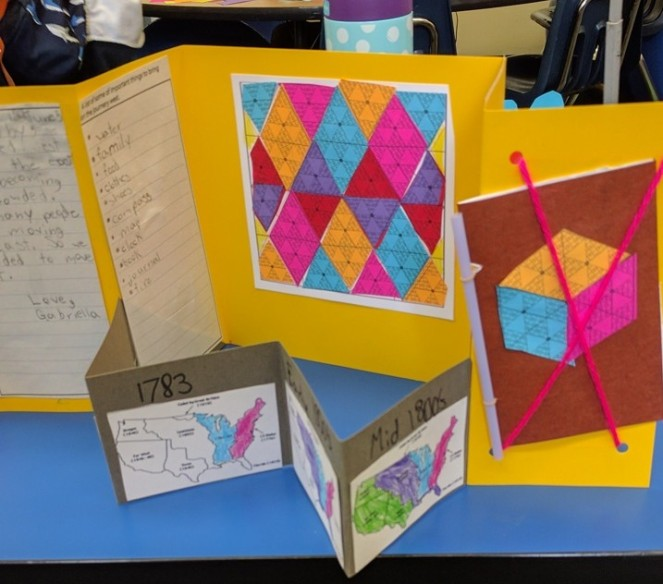 Paper-Quilting square in book