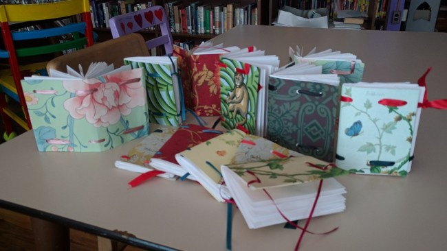 Ribbon Journals made by 4th and 5th graders