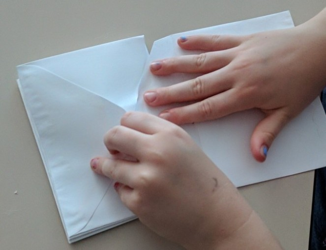 Assembling envelopes into pages