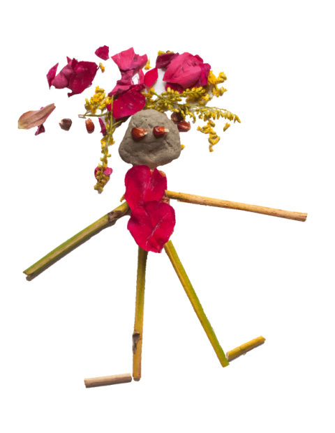 Stick and petal figure