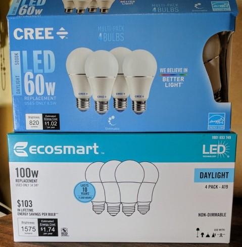 Daylight, 5000K bulbs