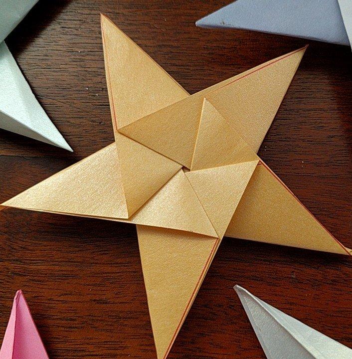 3-D Origami Pop-up Star Tutorial | Undertale Amino | 720x706