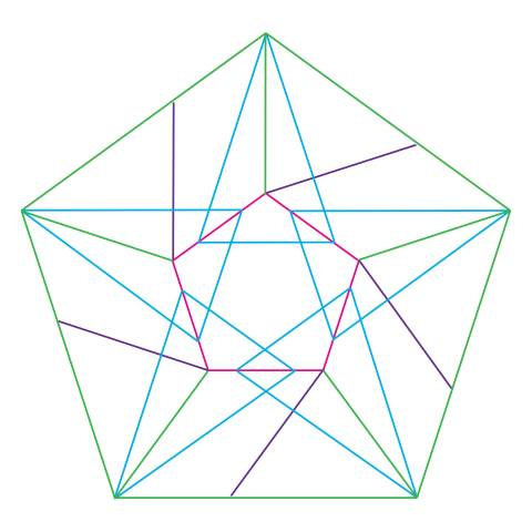 Lines for a Folded Paper Star