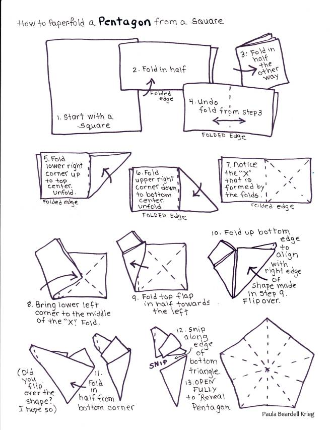How to fold a Pentagon from a Square