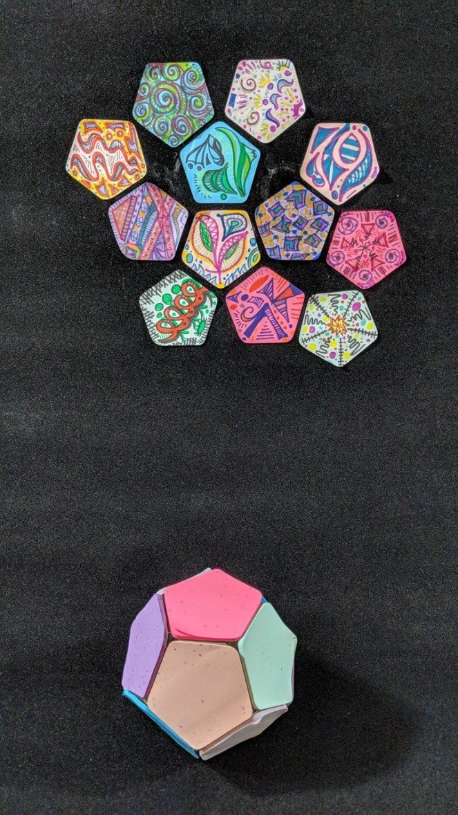 Pentagons on Black Dodecahedron undone