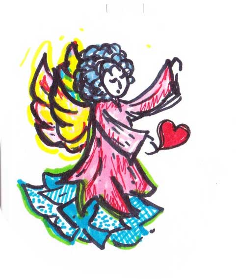 Colorful Valentine Angel