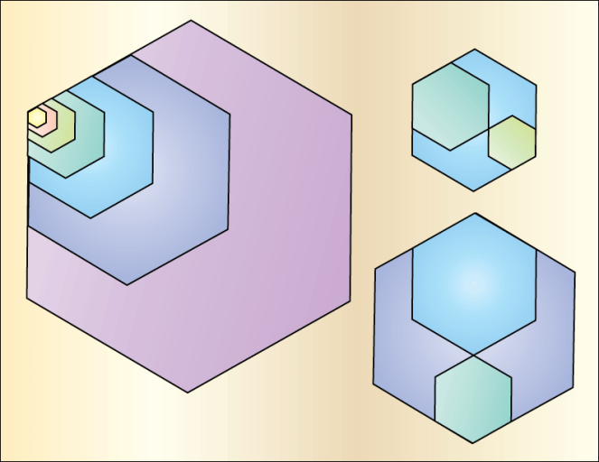 Golden Ratio Hexagons