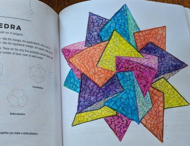 Polyhedra, Cascading Waves, Read the Sines, Patterns of the Universe by Alex Bellos and Edmund Harriss