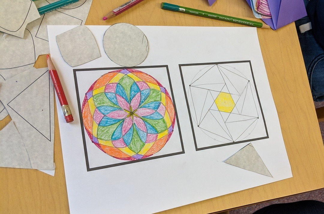 Rotational Symmetry Project With 5 9 Year Olds And Moms Playful