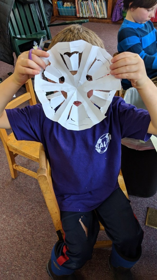 Snowflakes have rotational symmetry