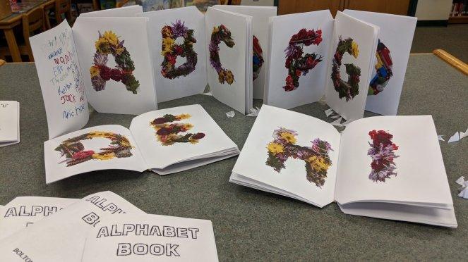 Rubber band bound alphabet books