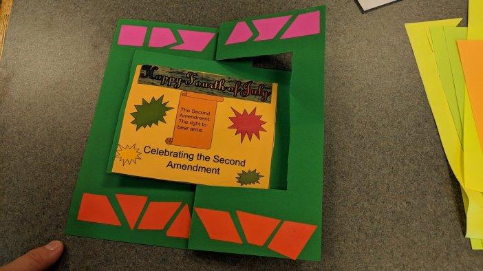 Swinger Card Celebrating the Constitution