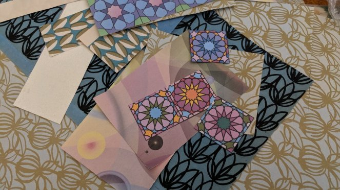 Some of my papers, some vintage papers designed by Axel Salto