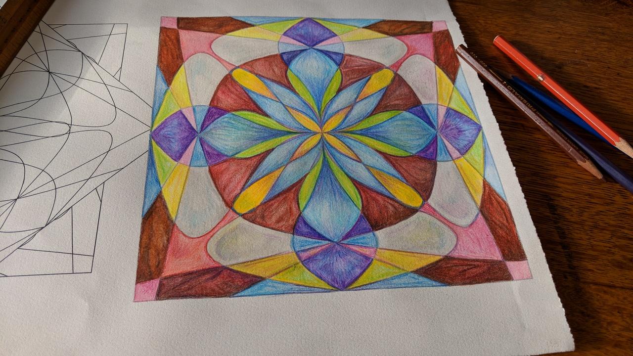 A drawing of mine, that's artful/mathful