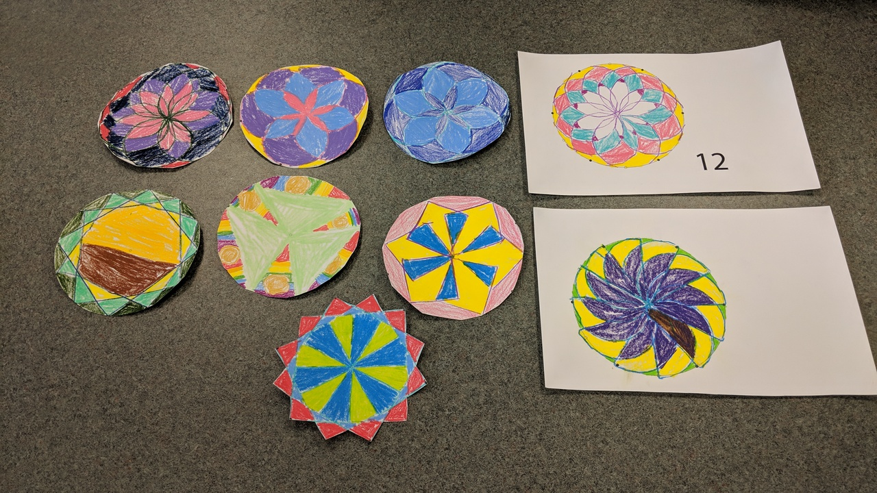Rotating Shapes after school with third graders