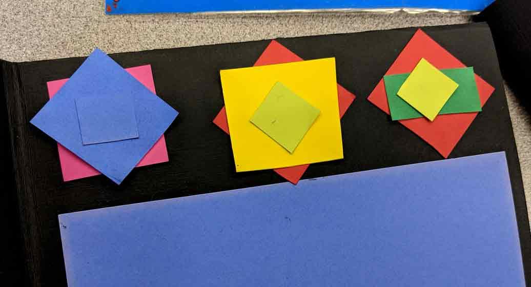 Scaling shapes to make decorative border