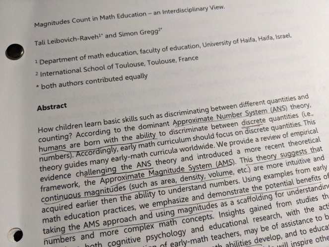 Magnitudes Count In Math Education - an interdisciplinary View by Tali Leibovich-Raven and Simon Gregg