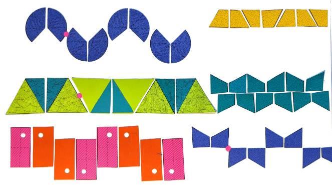 Frieze Group F5; p2mg; 2*∞ ; p2mg; TRVG: Sine Wave