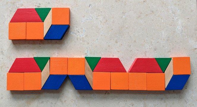 Vertical Reflection using Pattern Blocks